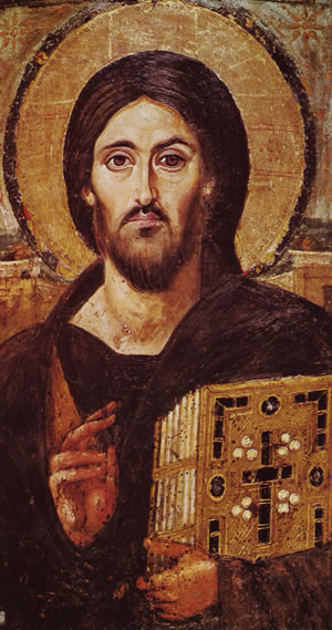 Icon of Christ from Mt Sinai